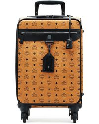 MCM - Visetos Leather Travel Trolley/rolling Carryon Suitcase - Lyst