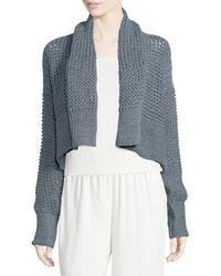 Urban Zen - Knit Shawl-collar Cropped Bolero Sweater - Lyst