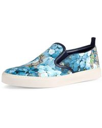 Gucci - Dublin Gg Blooms Canvas Slip-on Trainer - Lyst
