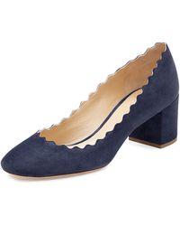 Chloé Lauren Ankle Strap Pumps - Blue