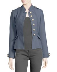Burberry Brit - Huntingdale Military Button Jacket - Lyst