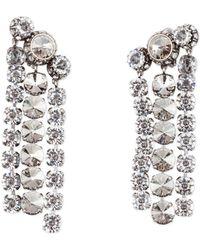 Lanvin - Three-row Crystal Statement Earrings - Lyst
