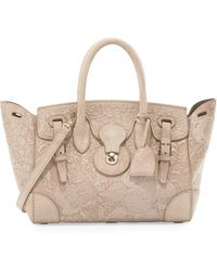 Pink Pony - Ricky 27 Embroidered Suede Satchel Bag - Lyst