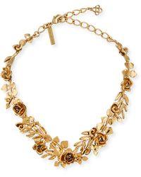 Oscar de la Renta - Seaweed Gold-plated Crystal Necklace - Lyst