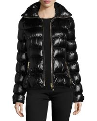 Burberry Brit - Ashdon Glossy Fitted Puffer Coat - Lyst