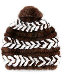 Surell - Mink Fur Beanie Hat - Lyst