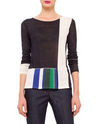 Akris Long-sleeve Colorblock Tunic Pullover - Multicolor