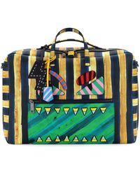 Fendi - Striped Leather Monster Duffle Bag - Lyst