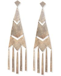 Ralph Lauren - Fringe Chandelier Earrings - Lyst