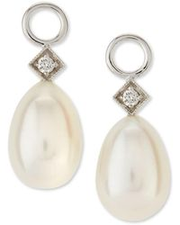 Jude Frances White Gold Pearl Briolette Earring Charms - Metallic