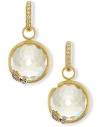 Jude Frances - Sonoma Round Champagne Citrine Earring Charms With Diamonds - Lyst