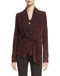 Urban Zen High-neck Leather Bead Necklace - Multicolour