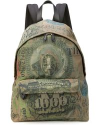 Givenchy Men's Dollar-print Canvas Backpack - Green