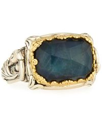 Konstantino - 18k & Sterling Silver East-west Spectrolite Ring - Lyst
