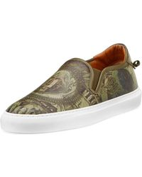 Givenchy Men's Dollar Leather Skate Shoe - Green