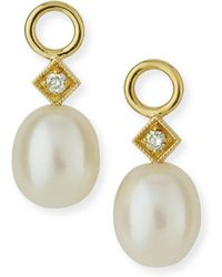 Jude Frances White Pearl Briolette Earring Charms