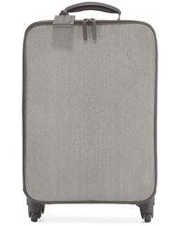 Brunello Cucinelli Monili Spinner Wheeled Carryon Suitcase - Gray