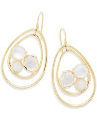 Ippolita 18K Rock Candy Pear-Shaped Wire Earrings in Antique White vlAM0Tv