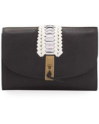 Altuzarra Braided Leather Clutch Bag - Black