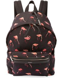 Saint Laurent - City Flamingo Nylon Backpack - Lyst