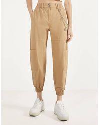 Pantalones Tobilleros Bershka De Mujer Hasta El 40 De Descuento En Lyst Es