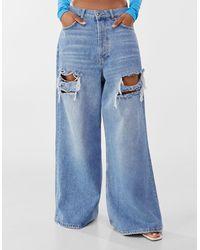 Bershka - Jeans Extreme Baggy Rotos - Lyst