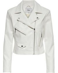 ONLY Leatherlook Jas - Wit