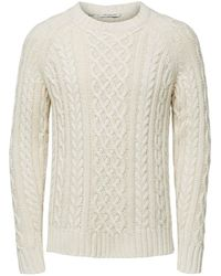 SELECTED Fair Isle Sweater - Wit