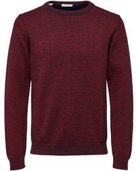SELECTED Biologisch Katoenen Sweater - Rood