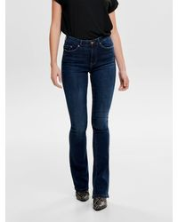 ONLY - Onlpaola Hw Flared Jeans - Lyst