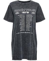 ONLY Lange Oversized T-shirt Dames Zwart