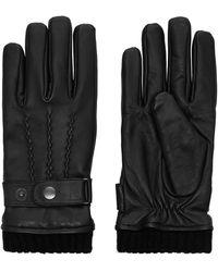 Jack & Jones Leren Handschoenen - Zwart