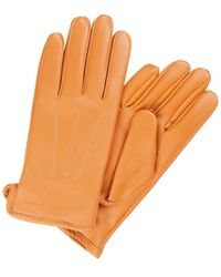 J.Lindeberg Bono Leren Handschoenen - Oranje