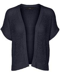 Vero Moda Offener Kurzärmeliger Strickjacke - Blau