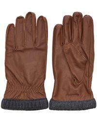 Jack & Jones Fleecevoering Leren Handschoenen - Bruin