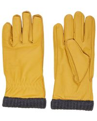 Jack & Jones Fleecefutter Leder Handschuhe - Gelb