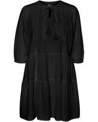 Vero Moda 3/4-mouw Boho Tuniek - Zwart