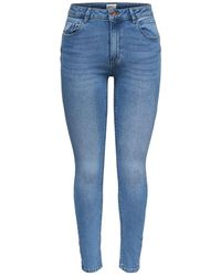 ONLY Onldaisy Reg Push Up Ankle Skinny Jeans - Blauw