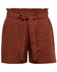 ONLY Effen Gekleurde Shorts - Rood