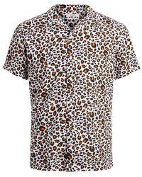 Jack & Jones Dierenprint Overhemd Met Korte Mouwen - Oranje
