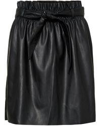 Vero Moda Gecoate Rok - Zwart