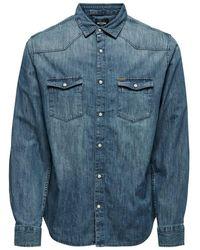 Only & Sons Denim Overhemd - Blauw
