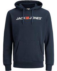 Jack & Jones Logo Hoodie - Blau