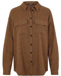 Vero Moda Knoop Overhemd - Bruin