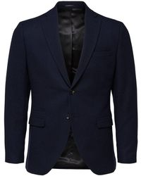 SELECTED Slim Fit Single-breasted Blazer - Blauw