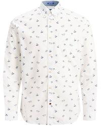 Jack & Jones Urlaubsprint Hemd - Weiß