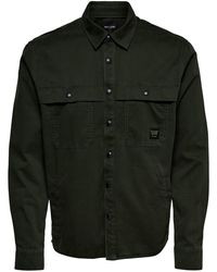 Only & Sons Workwear Overhemd - Groen