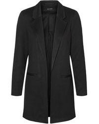 Vero Moda Lange Open Blazer - Zwart