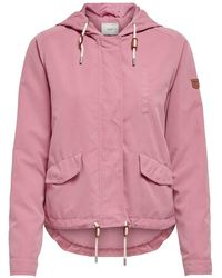 ONLY Tussen Jas Dames Roze