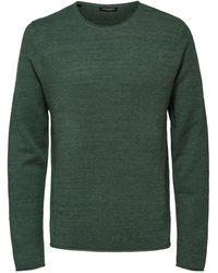 SELECTED Ronde Hals - Sweater - Groen